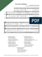 """Praetorius """"Puer Natus in Bethlehem"""
