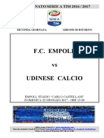 Empoli Udinese 21giornataseriea