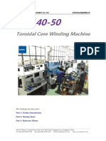 Catalogue of RC140-50 Toroidal Core Winding Machine (1)