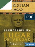 Lugar de Verdad - Christian Jacq