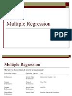 Lecture 8 Multiple Regression