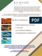 Job Opportunities at Makunudu Island_21012017