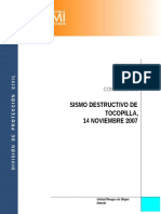 Sismo Destructivo de Tocopilla 14 Noviembre 2007