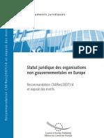 CMRec(2007)14F_Statut Juridique Des ONG