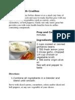 Garlic Dip With Crudites