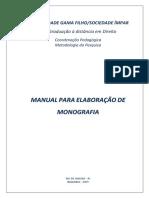 Manual de Elaboração de Monografia Jan 2009