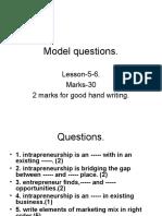 Model Questions 5-6.