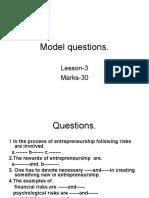 Model Questions Lesson1-2.