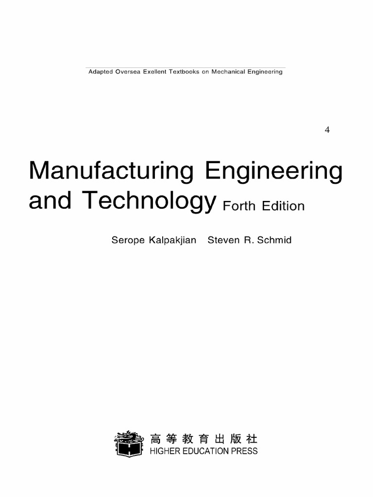 Manufacturing Engineering and Technology-4th-Edition