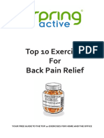 Top 10 Exercises for Back Pain Relief1