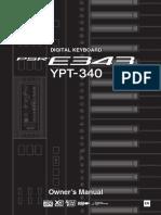 PSR E343_YPT 340 Owner's Manual