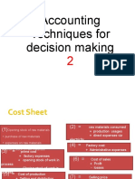 Accounting Techniques for Decision Making
