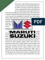 Maruti Suzuki India Limited is India