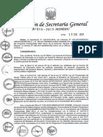 Resolución de Secretaria General016-2017-Minedu19%2f01%2f2017 Aprobar La Norma Técnica Denominada -Normas Para La Contratación Administrativa de Servicios Del Personal Para Las Intervenciones Pedagógicas en El Ma