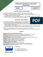 Bio Rio 2014 Nuclep Tecnico de Controle Da Qualidade Soldagem Prova
