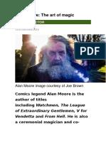 Alan Moore - Artigo Art of Magic 22 Fev 2016