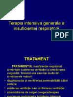 Terapia Intensiva Generala a Insuficientei Respiratorii