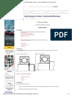Contrôle Corrigé Guidage en Rotation - ...Ruction Mécanique - Cours Et Exercices
