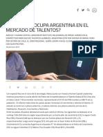 Qué Lugar Ocupa Argentina en El Mercado de Talentos