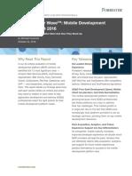 Forrester Wave Mobile Development