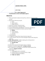 Examen Anatomia Febrero