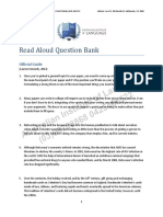 Read Aloud Question Bank