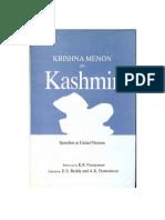 Krishna Menon on Kashmir