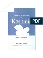 Krishna Menon on Kashmir