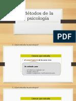 Métodos de La Psicología