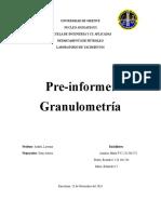 PREINFORME GRANULOMETRIA