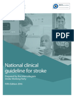 NICE Guideline for Stroke 5th 2016