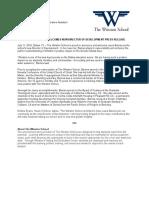 VOLK Winston School Laura Barnes Press Release