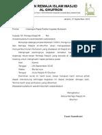 [Letter] Surat Undangan Rapat Kegiatan Muharam 1438 H