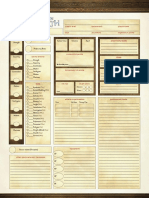 Adventures in Middle Earth Character Sheet