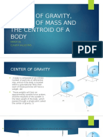 Chapter 9 Center of Gravity, Center of Mass And