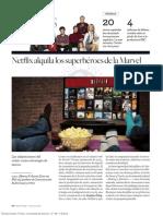 Netflix alquila los superhéroes de la Marvel (primavera-2016)