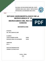 ESTUDIO HIDROMORFOLOGICO DE LA MICROCUENCA N° 18 MICROCUENCA DEL RIO CANCHA-CANCHA