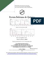 Revista Boliviana de Quimica Vol 33 N.4, Presentation