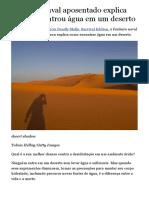 Como encontrar água em um deserto