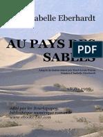 Eberhardt Au Pays Des Sables