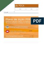 Plano de Ação PDCA