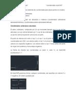 coordenadas autoCAD