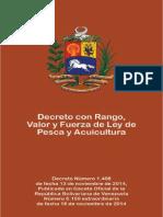 LEY de PESCA Y ACUICULTURA (Decreto Con Rango, Valor y Fuerza de Ley)