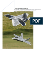 F22 Rtf Rc Airplane Foam Material
