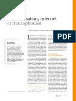 60192 Mondialisation Internet Et Francophonies
