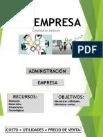 1.LA EMPRESA_Concepto Básicos & Fines