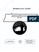 Performance Audit, Tennessee Department of Children's Services, Child Protective Services, 2007