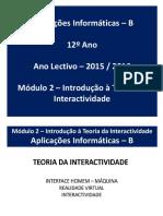 AI - 2º Período - Introdução à Teoria Da Interactividade