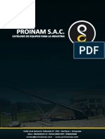 Brochure PROINAM SAC Equipos Transportadores
