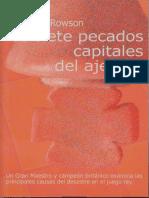 Jonathan Rowson - Los Siete Pecados Capitales Del Ajedrez (La Casa Del Ajedrez 2000)